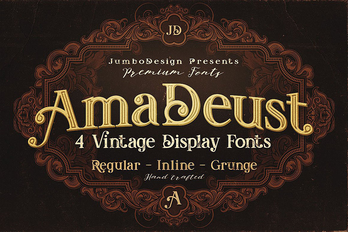 Print on Demand: AmaDeust Display Font By JumboDesign - Image 1