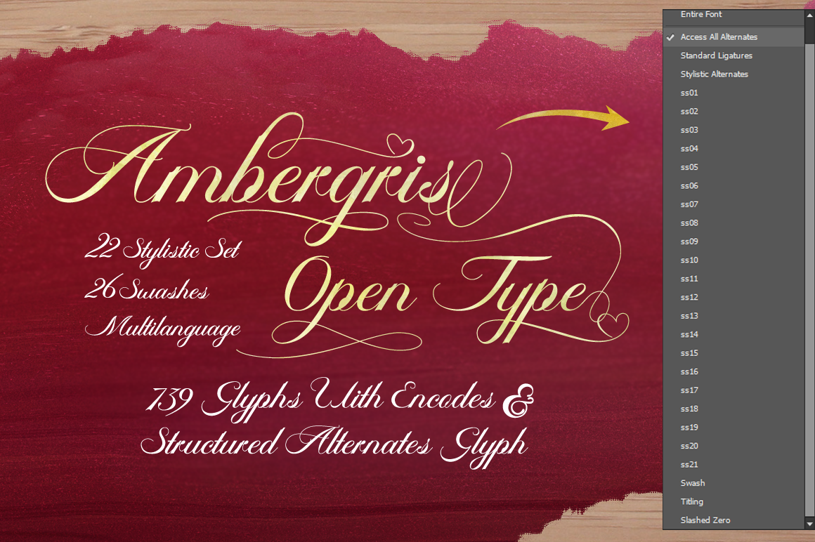 Print on Demand: Ambergris Script & Handwritten Font By feydesign - Image 4