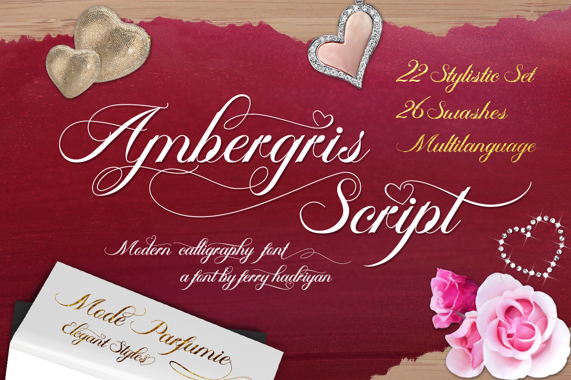 Print on Demand: Ambergris Script & Handwritten Font By feydesign