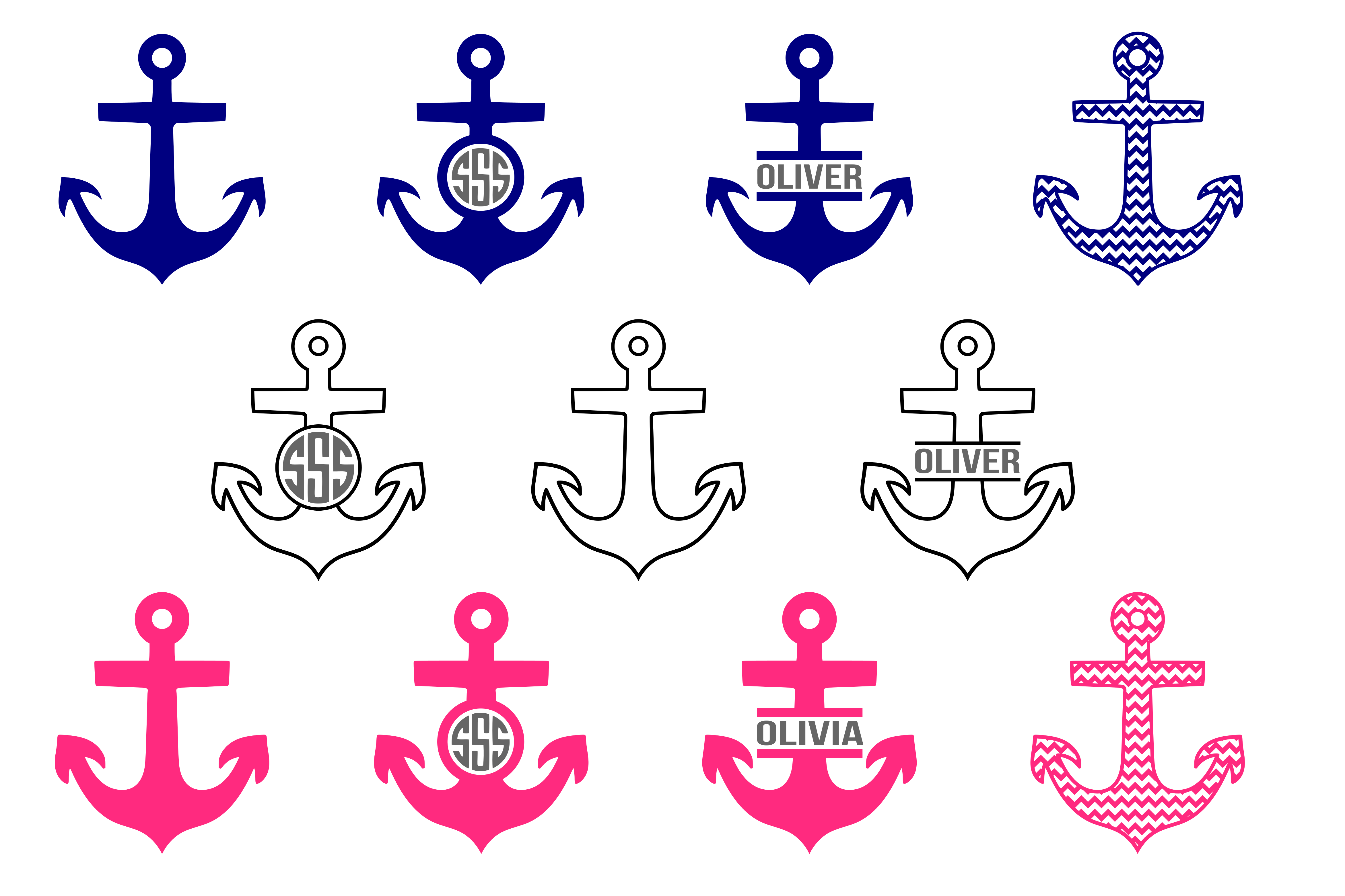 Anchor Graphic Crafts By CrystalGiftsStudio