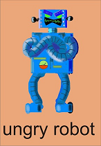 Angry Robot Graphic By Gustavo Lucero