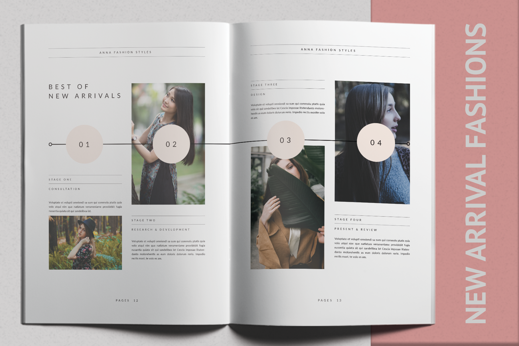 Print on Demand: Anna Lookbook Fashion Graphic Print Templates By onedsgn - Image 4