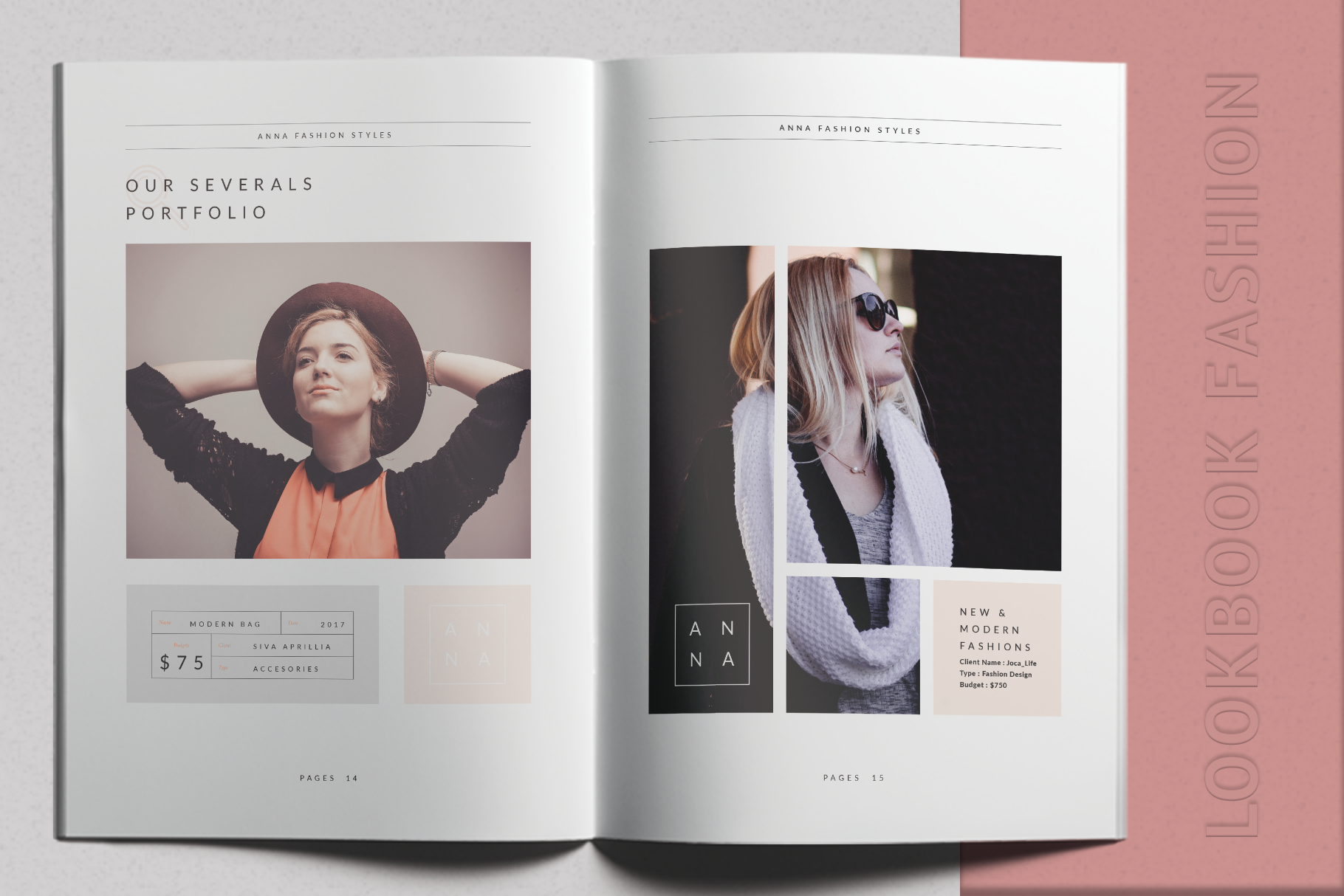 Print on Demand: Anna Lookbook Fashion Graphic Print Templates By onedsgn - Image 5