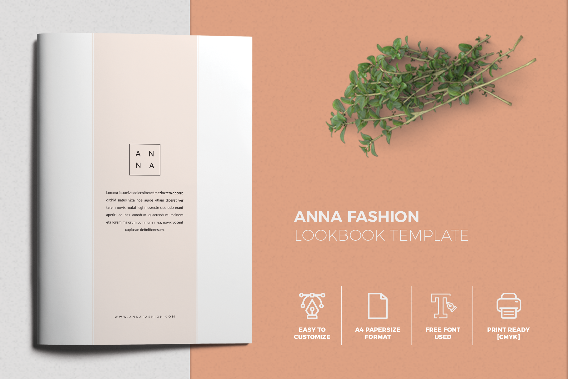 Print on Demand: Anna Lookbook Fashion Graphic Print Templates By onedsgn