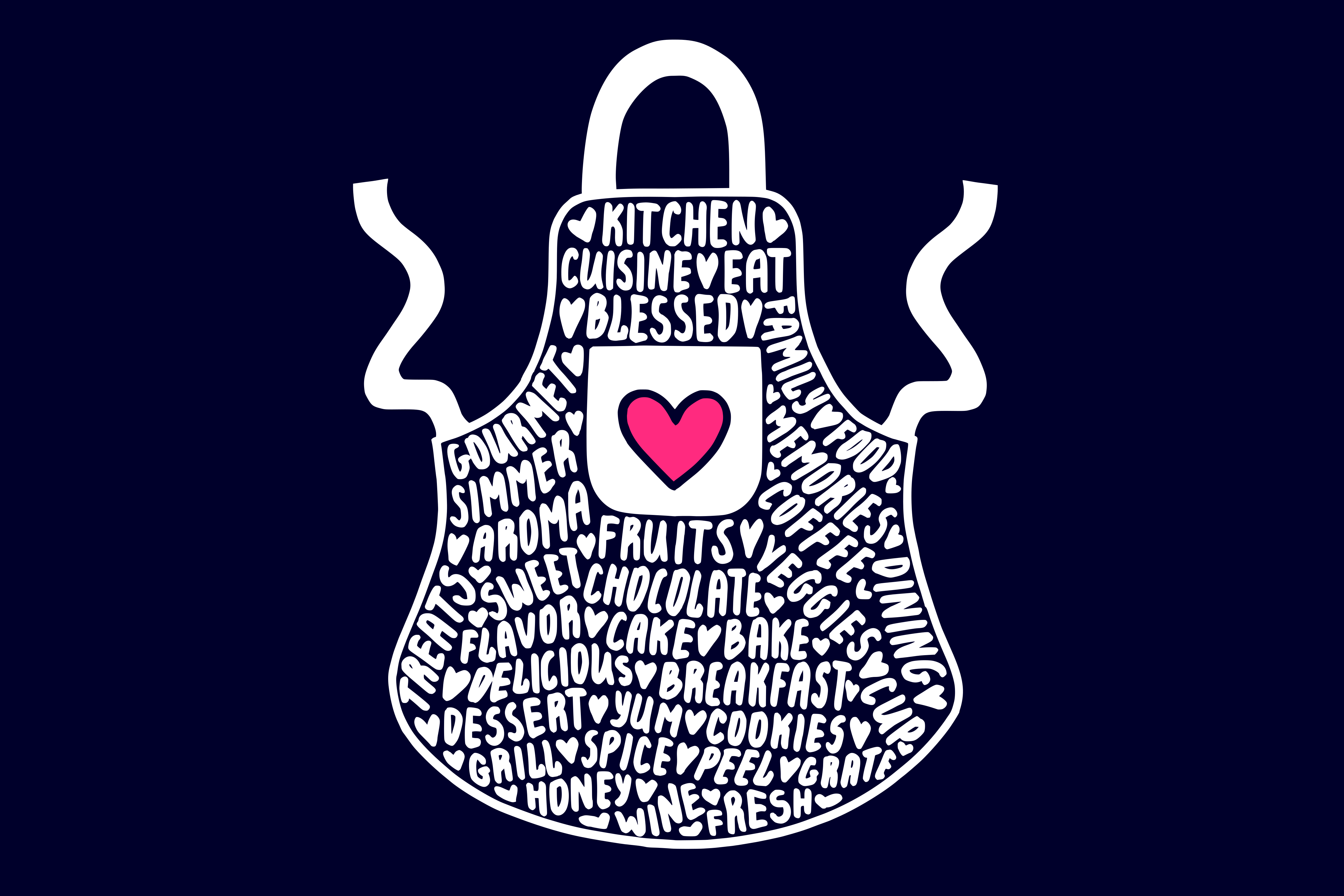 Apron SVG Graphic By CrystalGiftsStudio