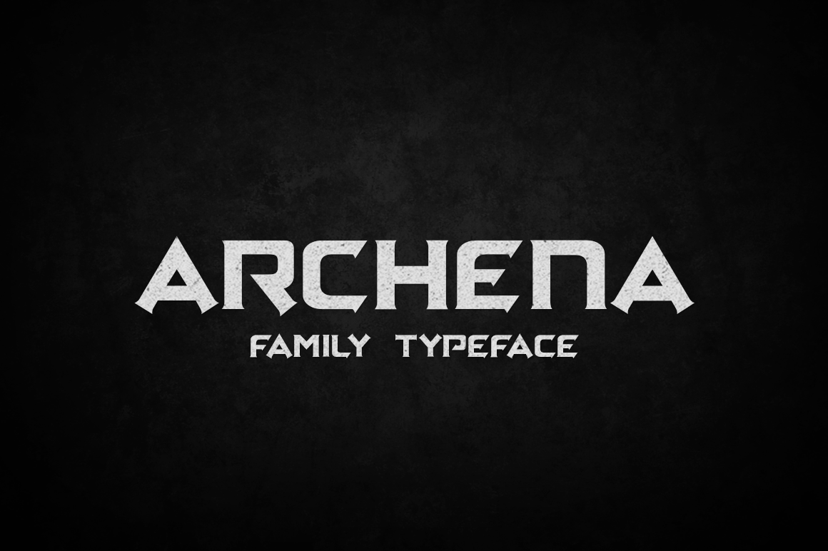 Print on Demand: Archena Display Font By tamaputra