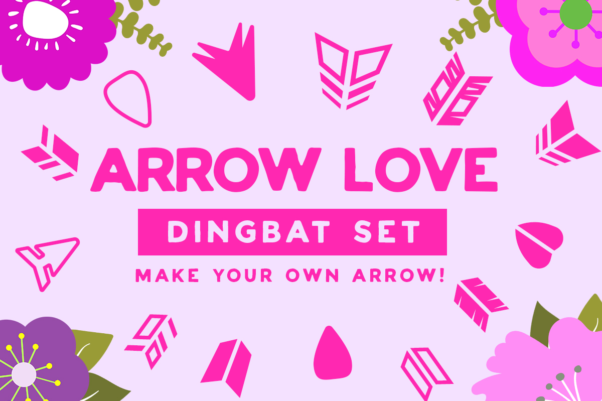 Print on Demand: Arrow Love Dingbat Dingbats Schriftarten von Creative Fabrica Fonts