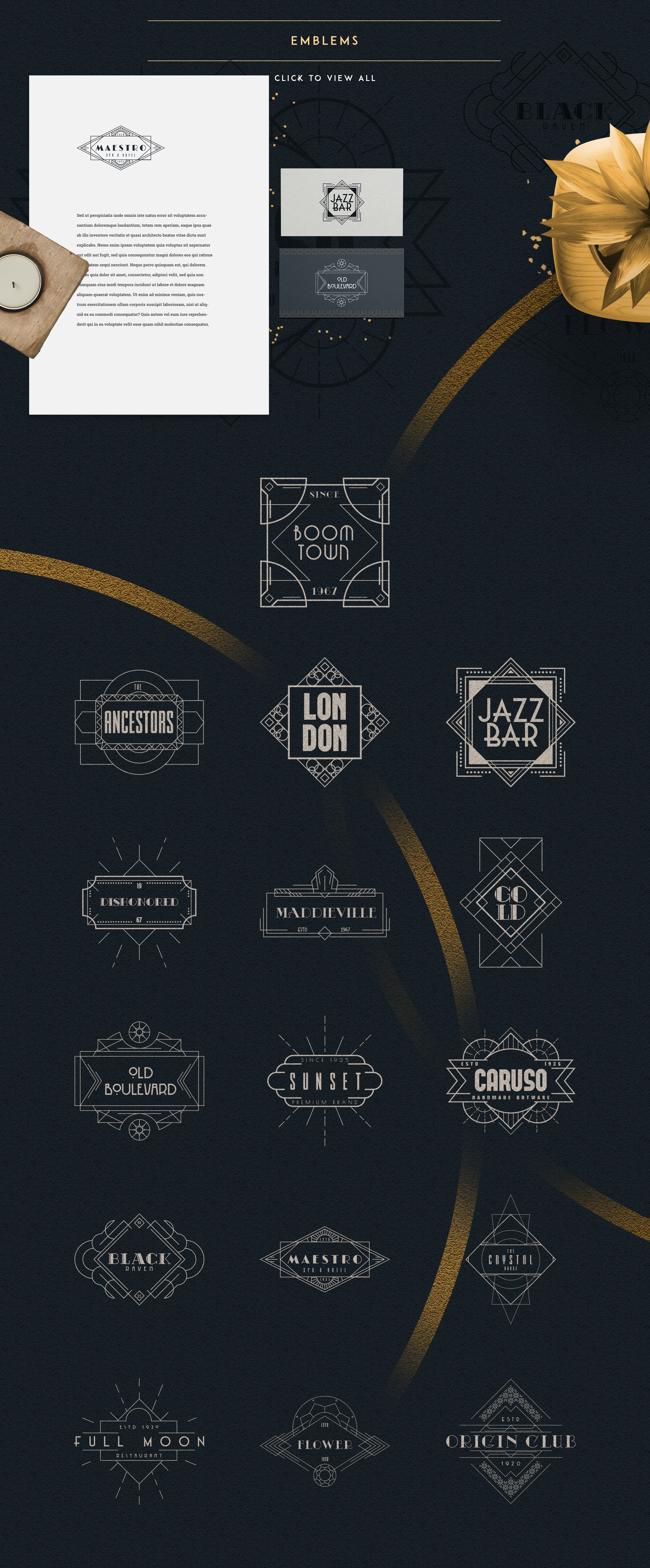 Print on Demand: Art Deco Ultimate Collection Graphic Logos By vladfedotovv - Image 3