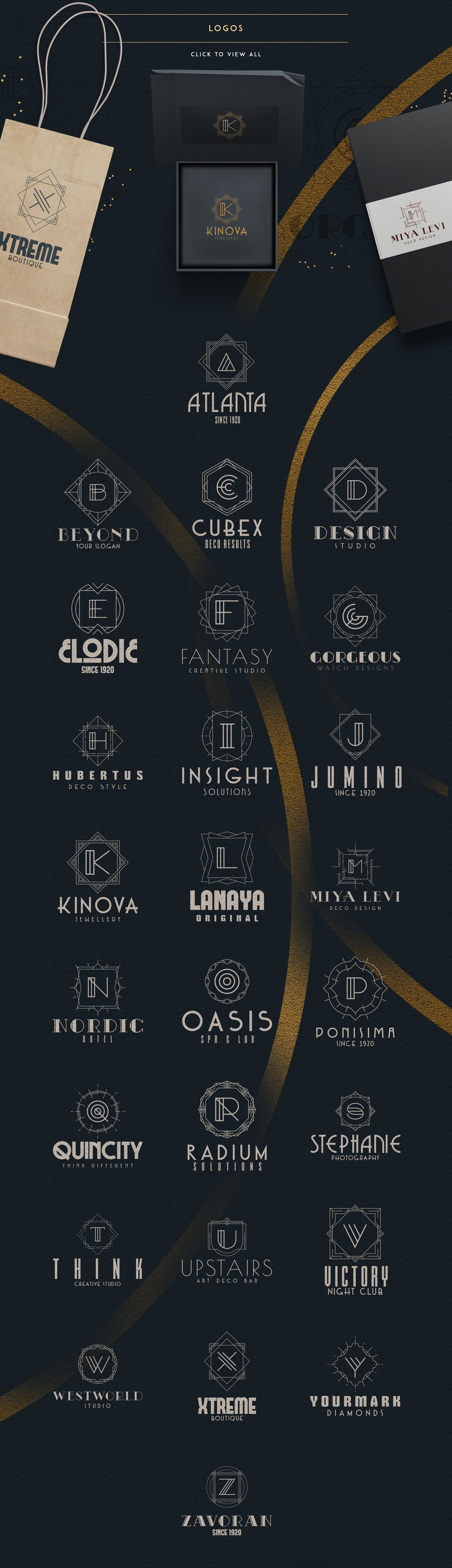 Print on Demand: Art Deco Ultimate Collection Graphic Logos By vladfedotovv - Image 4