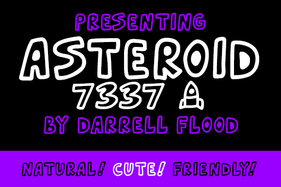 Print on Demand: Asteroid 7337 Decorative Font By Dadiomouse - Image 1