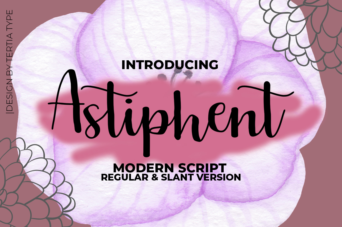 Print on Demand: Astiphent Script & Handwritten Font By akrtype