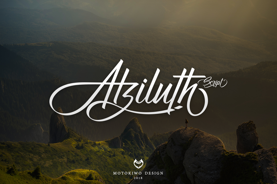 Print on Demand: Atziluth Display Font By motokiwo