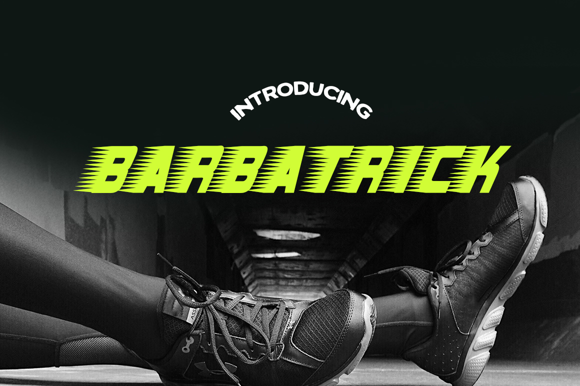 Barbatrick Font By Typodermic