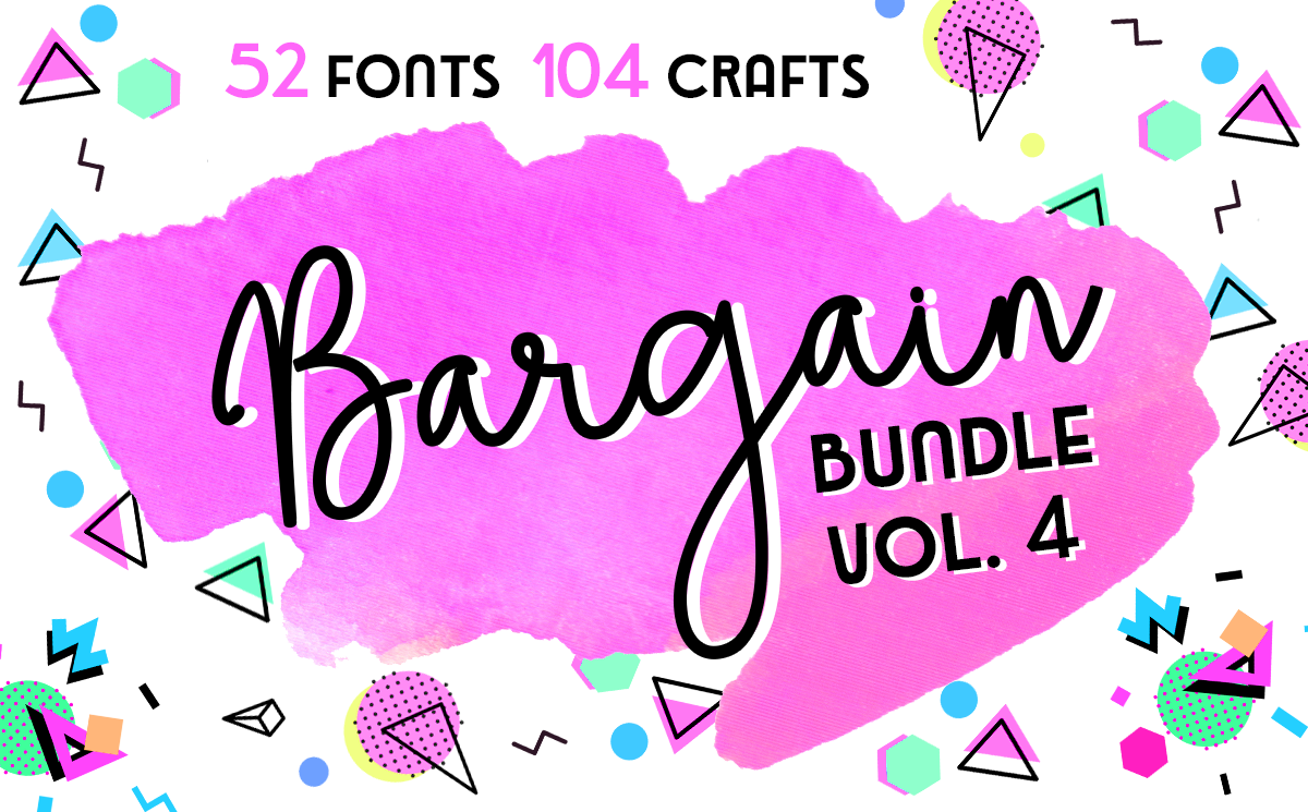 Download Free The Bargain Script Bundle Vol 4 Bundle Creative Fabrica for Cricut Explore, Silhouette and other cutting machines.