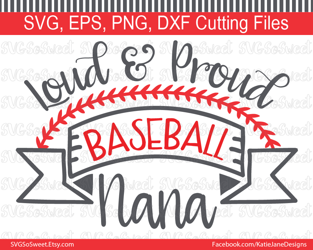 Baseball Nana Graphic Crafts By Southern Belle Graphics - Image 1