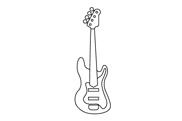 Download Free Bass Guitar Svg Cut File By Creative Fabrica Crafts Creative for Cricut Explore, Silhouette and other cutting machines.