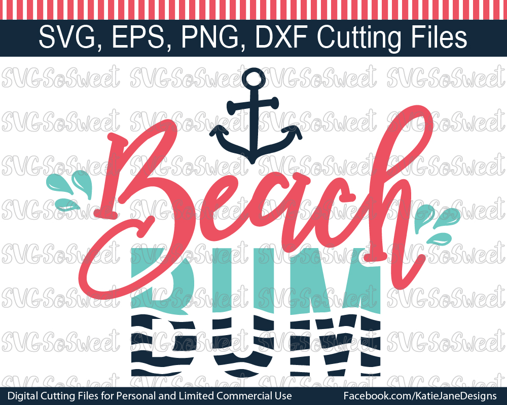 Beach Bum Graphic Crafts By Southern Belle Graphics