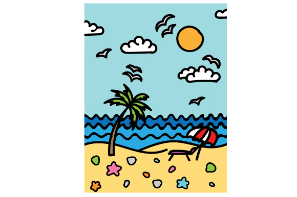 Beach Time Journal Card SVG Cut Files - Free SVG File Download
