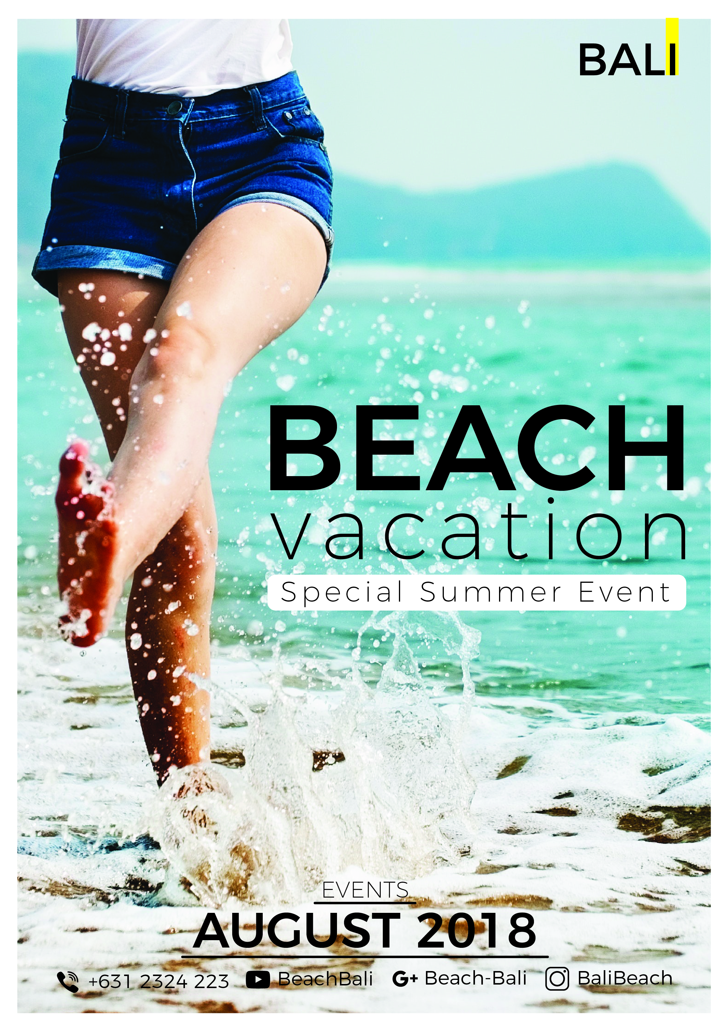 Beach Vacation Graphic Print Templates By harizandy
