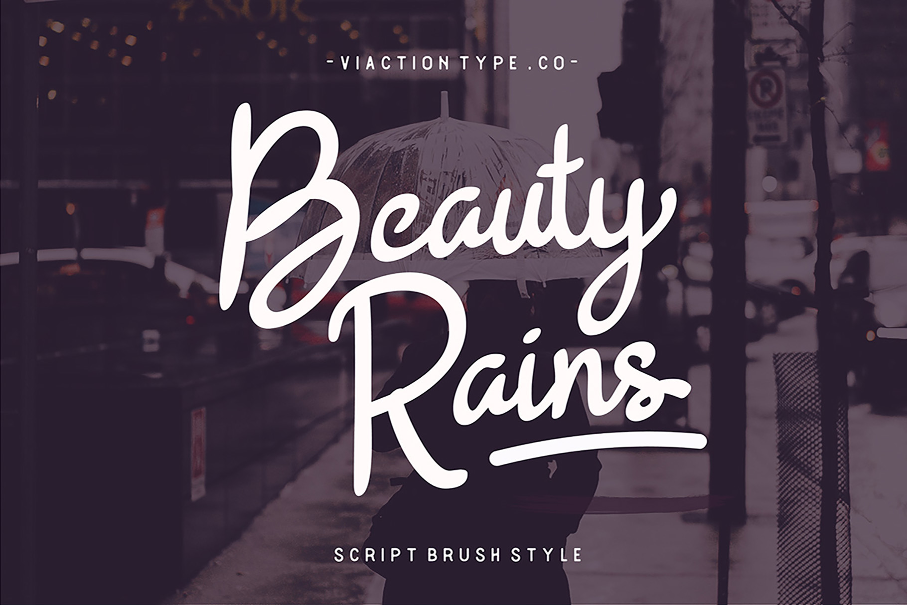 Print on Demand: Beauty Rains Script & Handwritten Font By Viaction Type.Co