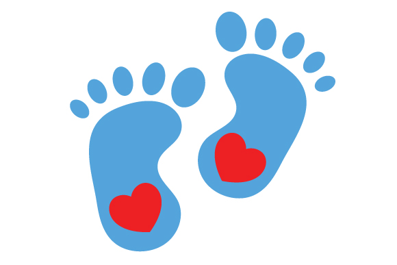 Blue Baby Feet Silhouette Baby Craft Cut File By Creative Fabrica Crafts