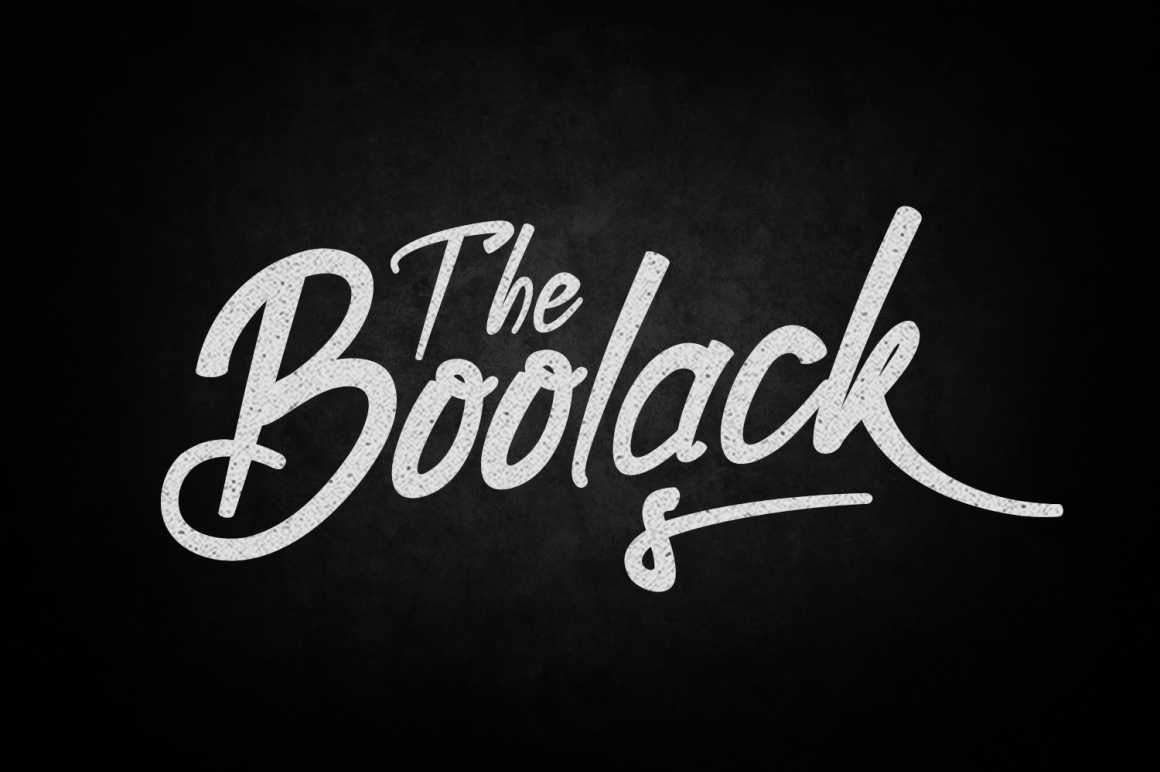 Boolack Font By tamaputra