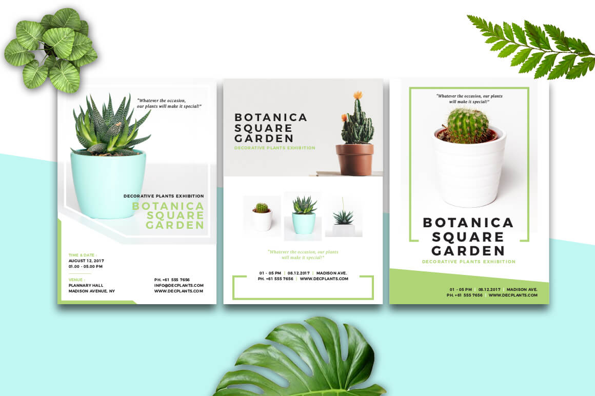 Botanica - Event Flyer & Poster Graphic Print Templates By RahardiDesign