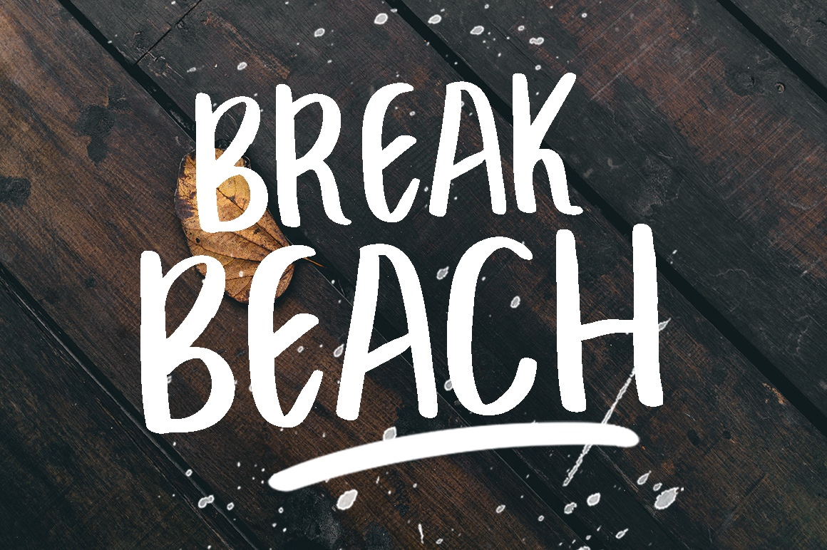 Print on Demand: Break Beach Display Font By Eldertype Studio