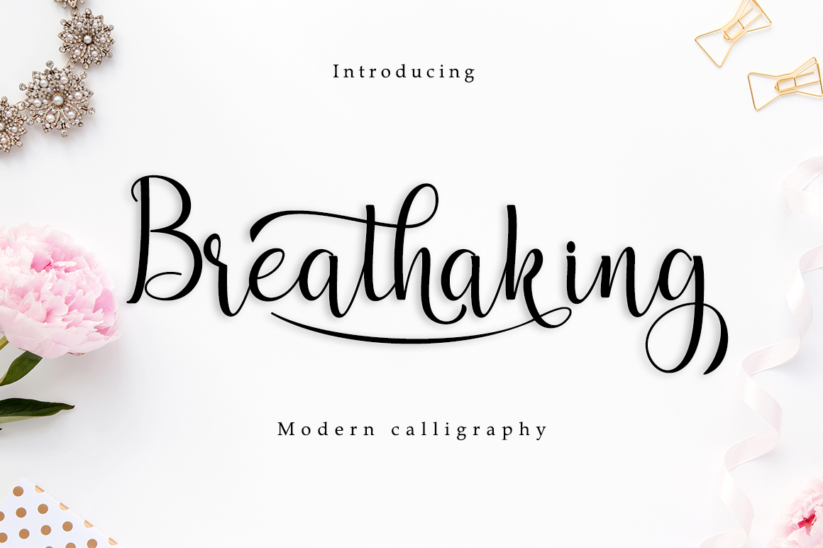 Breathaking Font By zulkhairilettering