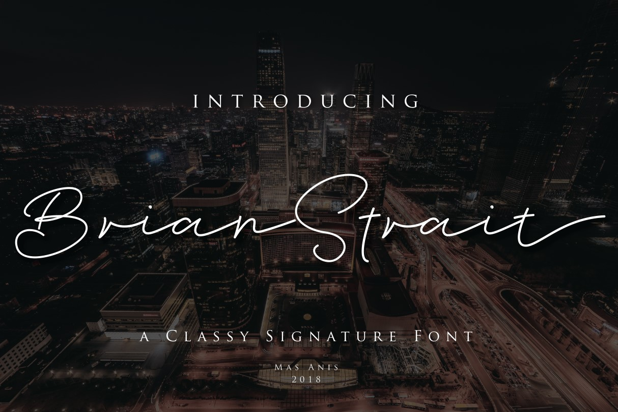 Print on Demand: Brian Strait Script & Handwritten Font By Mas Anis