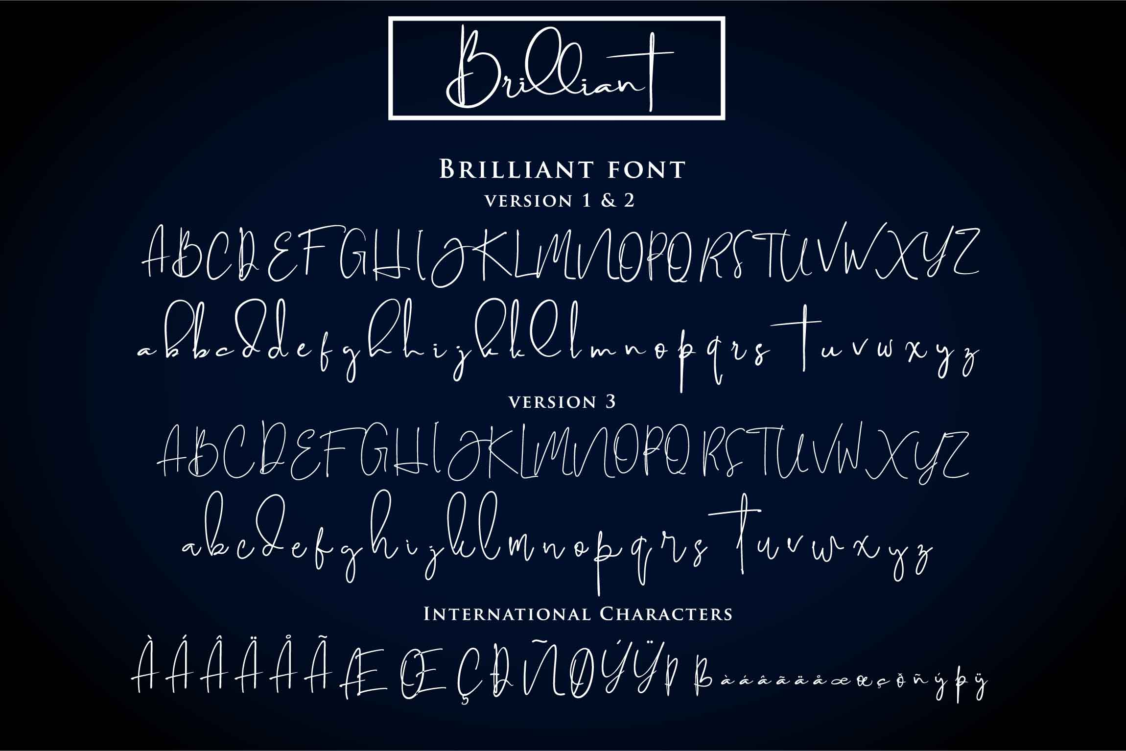 Print on Demand: Brilliant Script & Handwritten Font By Din Studio - Image 3
