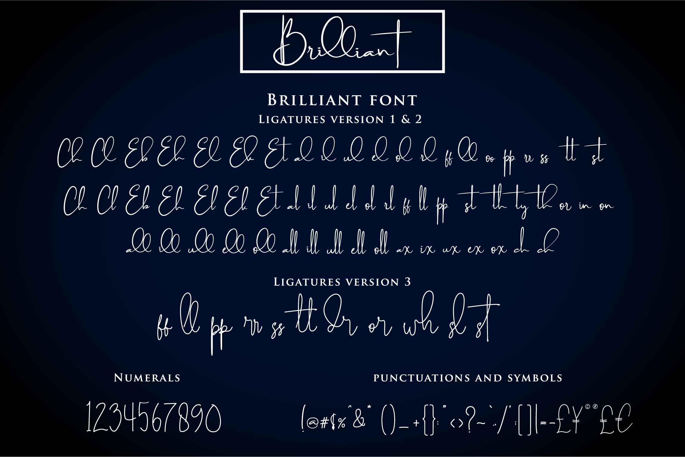 Print on Demand: Brilliant Script & Handwritten Font By Din Studio - Image 4