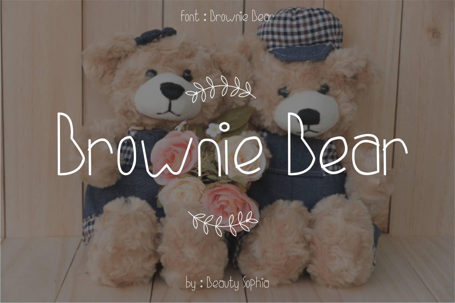 Brownie Bear Font By beautysophia
