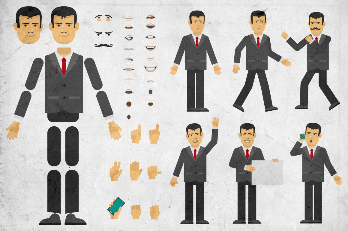 Businessman Creation Set Graphic Objects By Agor2012
