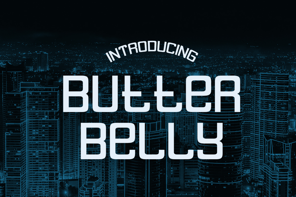 Print on Demand: Butter Belly Display Font By Typodermic