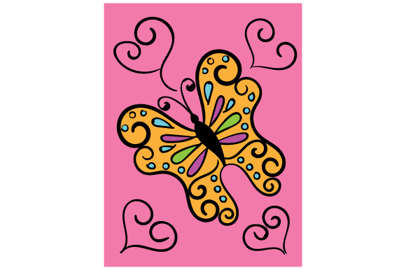 Download Free Butterfly Journal Card Svg Cut File By Creative Fabrica Crafts for Cricut Explore, Silhouette and other cutting machines.