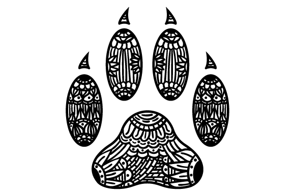 Download Free Cat Paw Print Zentangle Svg Cut File By Creative Fabrica Crafts for Cricut Explore, Silhouette and other cutting machines.