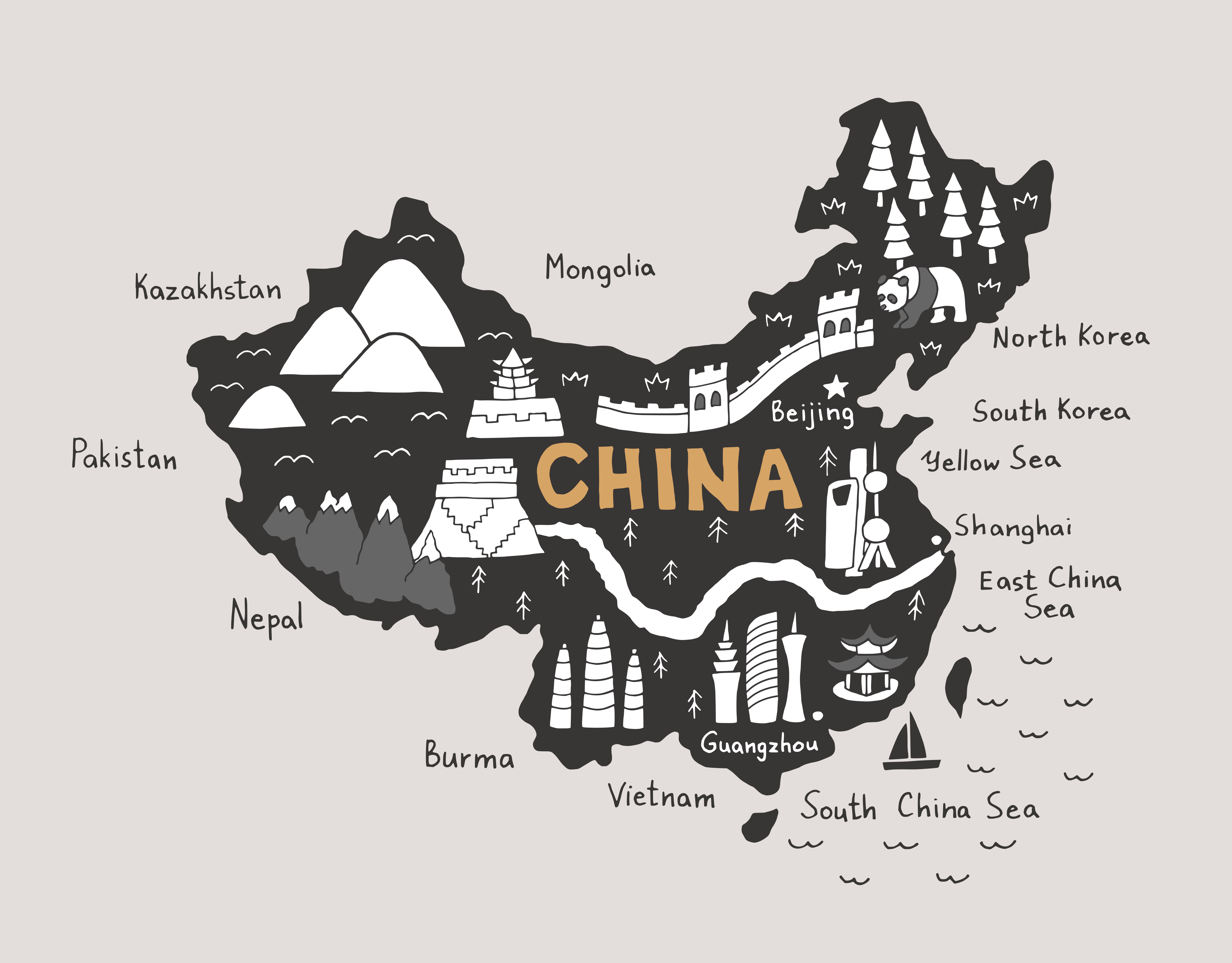 China Map SVG Graphic By CrystalGiftsStudio