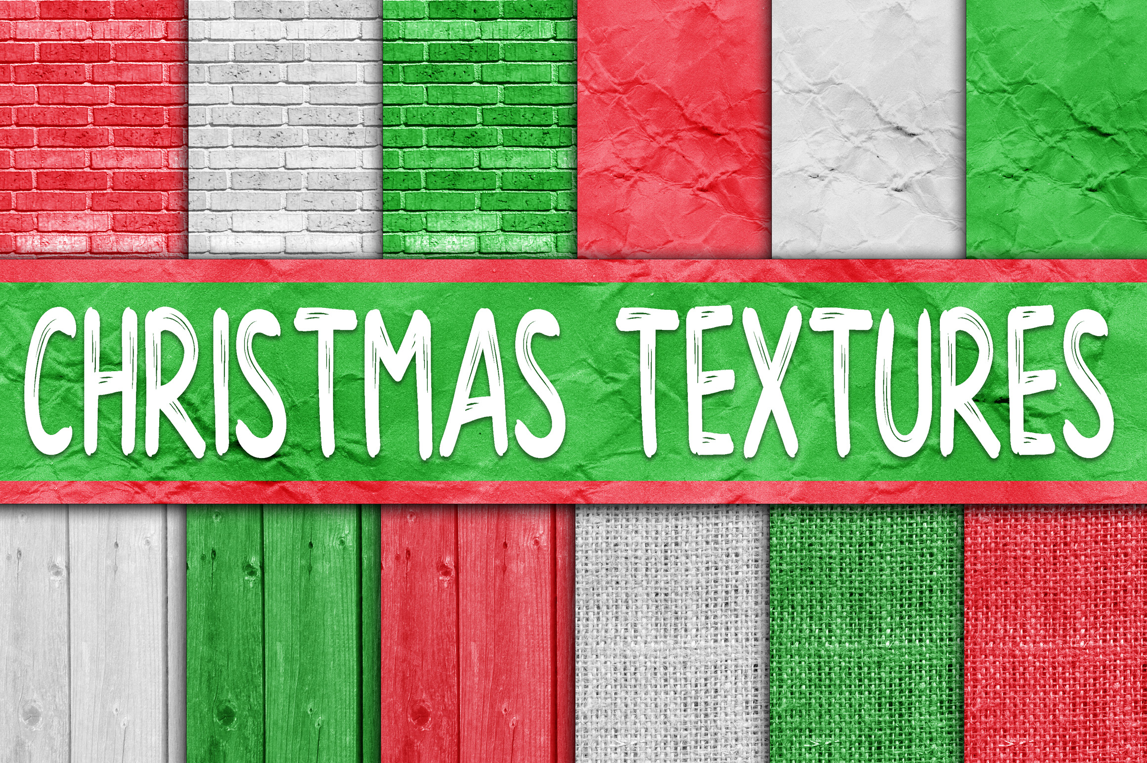 Christmas Textures Digital Papers Graphic By oldmarketdesigns Image 1