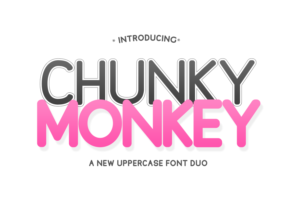 Print on Demand: Chunky Monkey Display Font By Salt & Pepper Designs