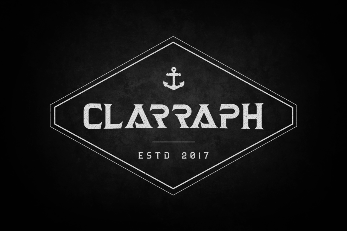 Print on Demand: Clarraph Display Font By tamaputra