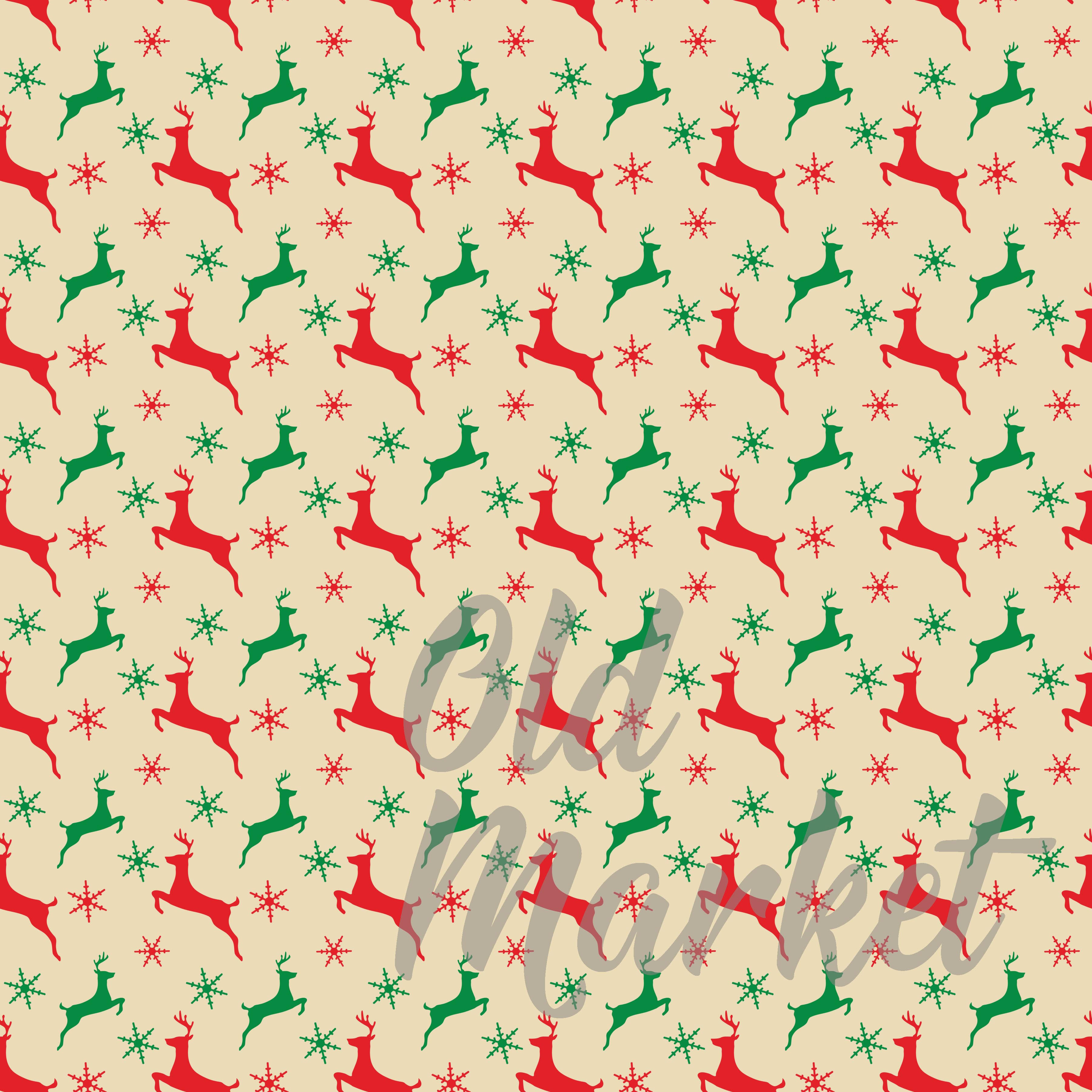 Classic Christmas Digital Paper Graphic By oldmarketdesigns Image 2