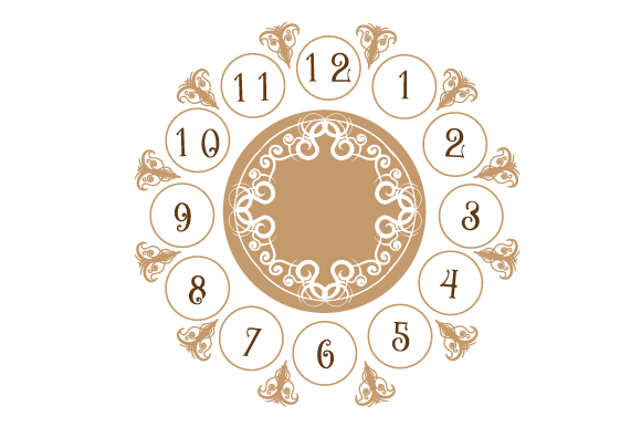 Download Free Clock Face Svg Cut File By Creative Fabrica Crafts Creative for Cricut Explore, Silhouette and other cutting machines.