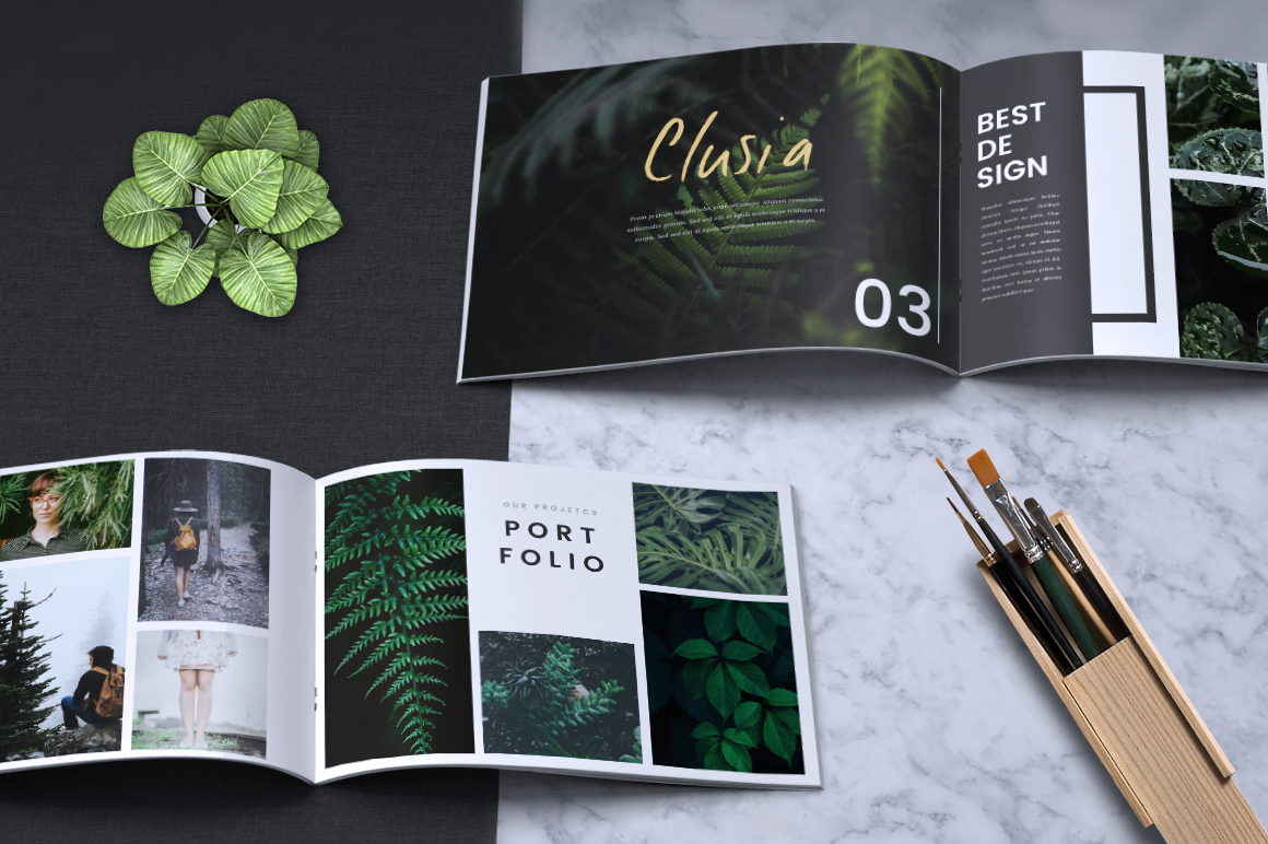 Download Free Clusia Lookbook Brochure Catalogue Graphic By Rahardidesign for Cricut Explore, Silhouette and other cutting machines.