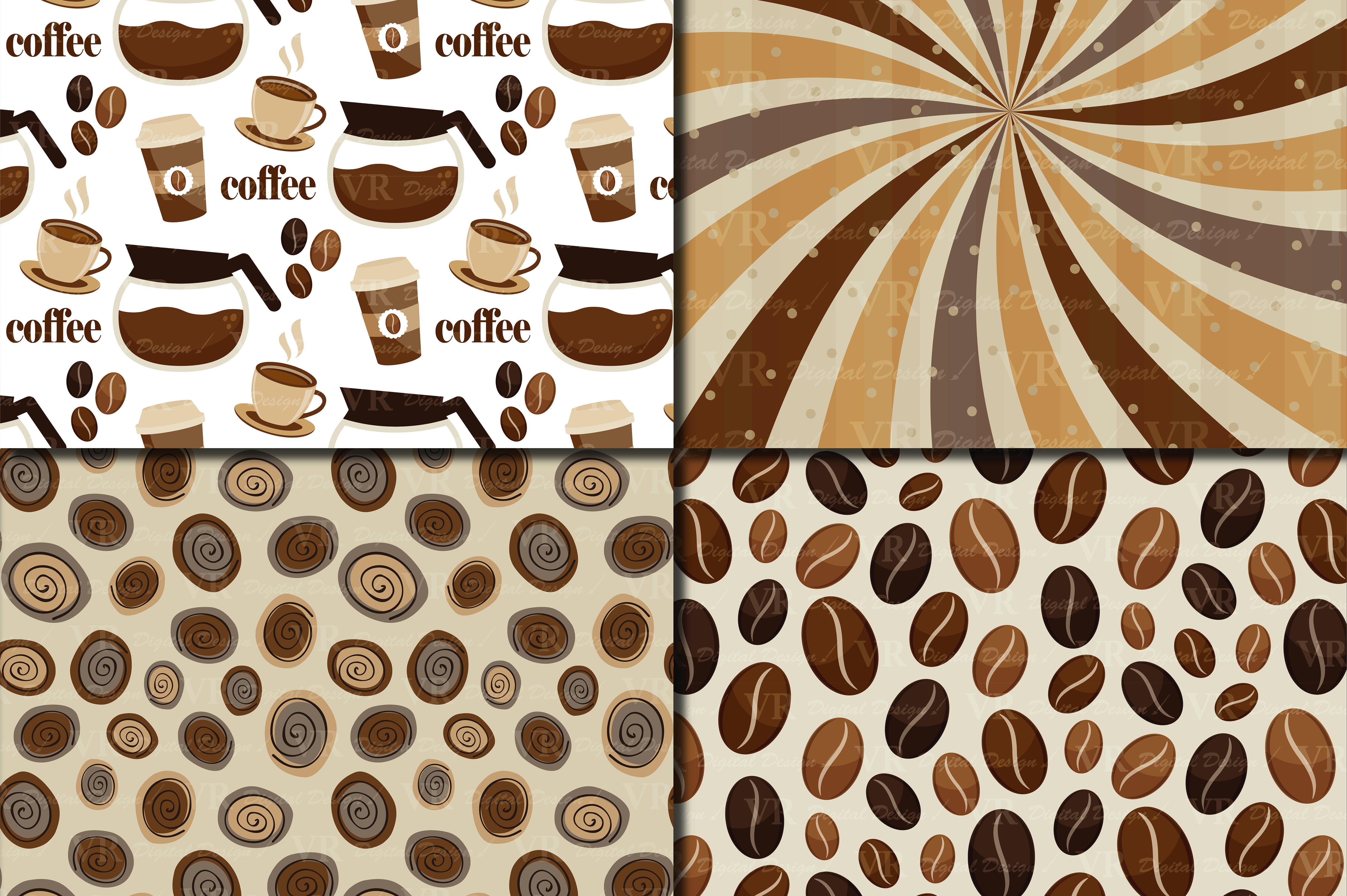 Download Free Coffee Digital Paper Pack Coffee Beans Background Brown for Cricut Explore, Silhouette and other cutting machines.