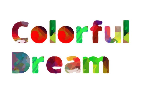 Print on Demand: Colorful Dream (Color Font) Color Fonts Font By shahab.siavash