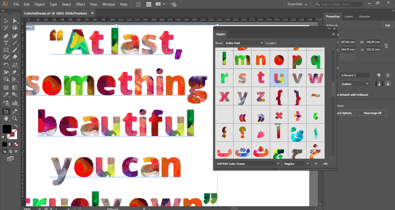 Print on Demand: Colorful Dream (Color Font) Color Fonts Font By shahab.siavash - Image 6
