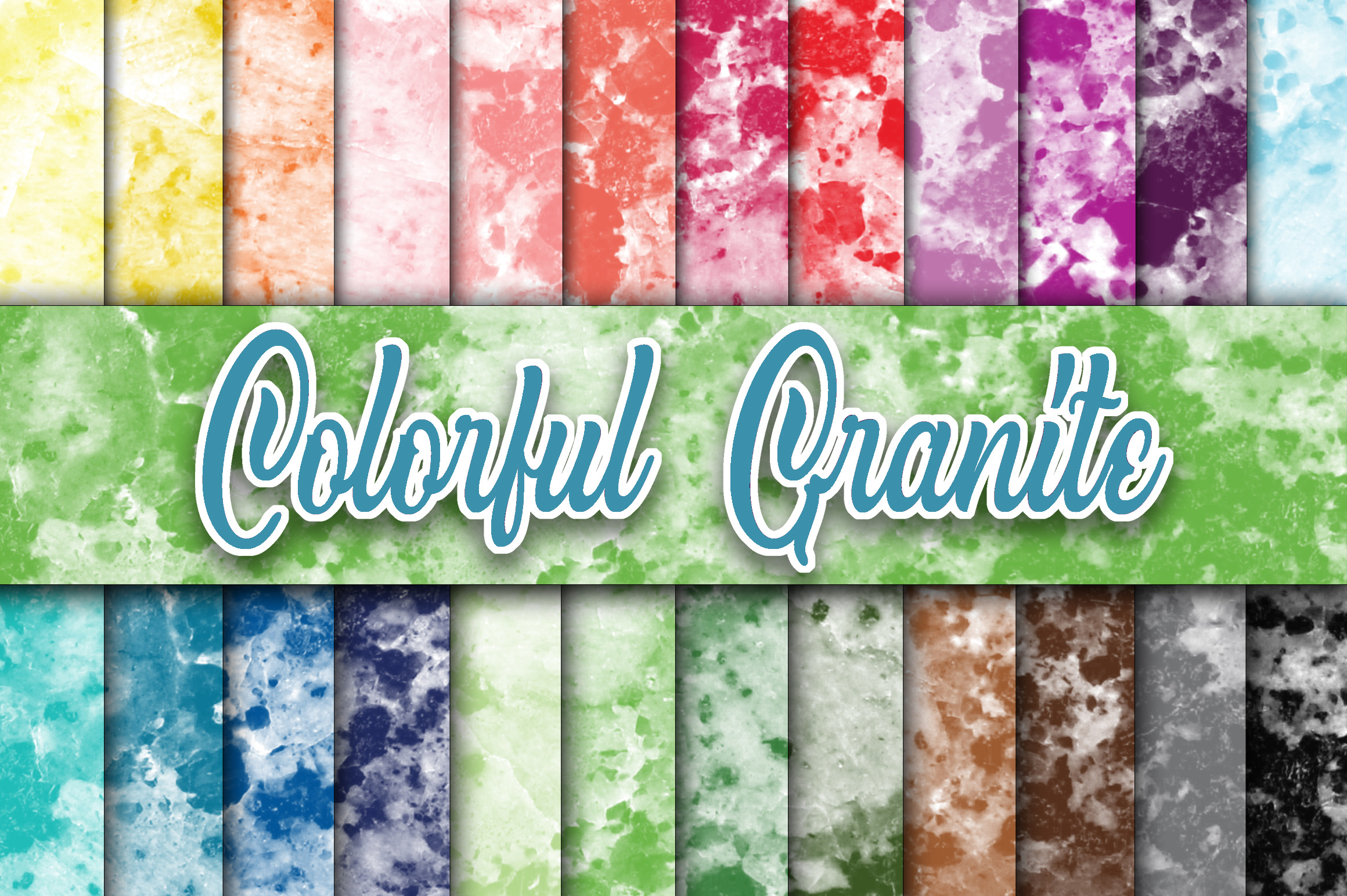 Download Free Colorful Granite Textures Digital Papers Graphic By for Cricut Explore, Silhouette and other cutting machines.