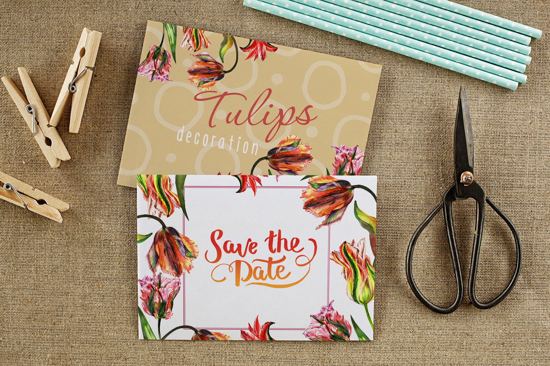 Download Free Colorful Tulips Watercolor Set Graphic By Mystocks Creative for Cricut Explore, Silhouette and other cutting machines.