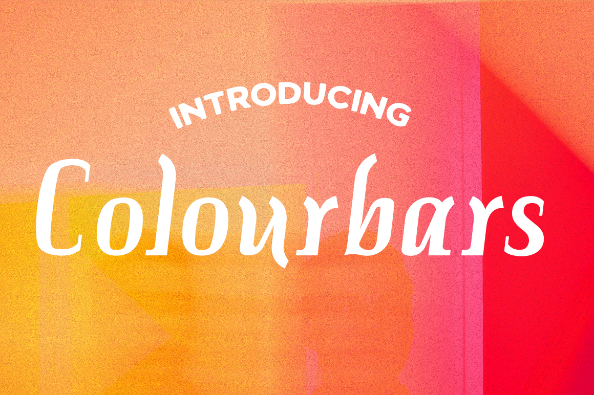 Colourbars Serif Font By Typodermic